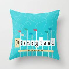 Park Entrance | Disney inspired Throw Pillow by Jordan Blaser - $20.00