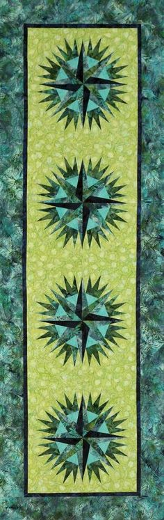 Compass Rose Table Runner, Quiltworx.com Small Quilts, Mini Quilts, Mariners Compass, Table Runner Pattern, Quilted Table Runners, Quilted Wall Hangings, Barn Quilts, Square Quilt, Quilt Making