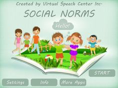 App with over 50 social stories for children with autism. In addition you can create and add your own social stories. Visit www.virtualspeechcenter.com to learn more about this app.