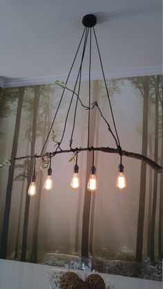 5 Pendant Light  Wrap a stick or pipe rustic by HangoutLighting
