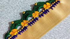Saree Kuchu New Designs, Saree Tassels Designs, Blouse Designs, Crochet Flower Tutorial, Crochet Flowers, In Kannada, Hand Designs, Blouse Styles, Crochet Designs