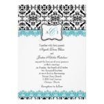 Vintage Charm Brown & Tiffany Blue Wedding Invites from Zazzle.com