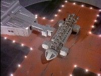 Eagle on landing pad: the craft and its support infrastructure remain amongst the most realistic in sci-fi.