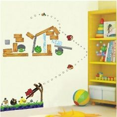 Angry Birds Reusable 3rd Generation Removable Art Decal Wall Stickers V1 from Wall Stickers Warehouse: Amazon.co.uk: Kitchen & Home