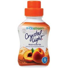 SodaStream Crystal Light Peach Iced Tea Flavored Drink Mix, White Sparkling Drinks, Fruity Drinks, Refreshing Drinks, Soda Stream Recipes, Peach Ice Tea, Orange Soda, Light Peach, Iced Tea, Mixed Drinks