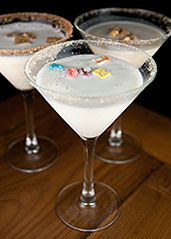 Cereal martinis!   Great breakfast food if we ever do an overnight spa/movie night ladies. :) Can you say SLUMBER PARTY BIG PEOPLE STYLE! :)