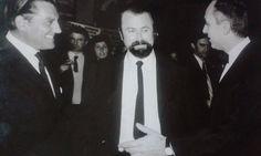 Αριστερά: Ο Γιάννης Πετροπουλάκης. Δεξιά: Ο Κλέαρχος Κονιτσιώτης