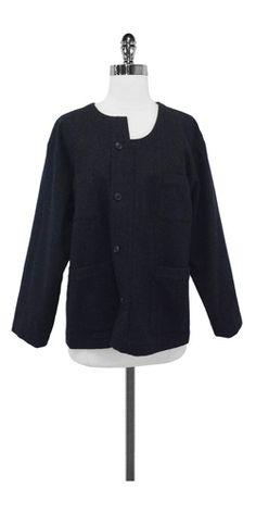 Comme de Garcons Charcoal Wool Jacket