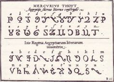 egyptian alphabet from 16th ken