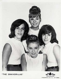 elizabitchtaylor:    Very early publicity photo for The Shangri-Las