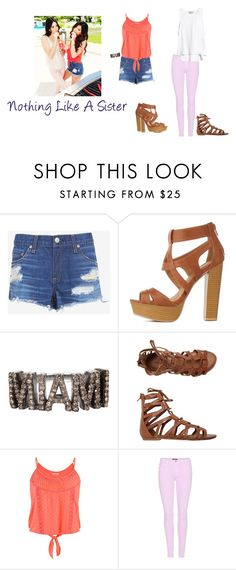 """""""#sistersforever"""" by pinkrose01 ❤ liked on Polyvore featuring beauty, rag & bone/JEAN, Charlotte Russe, ADORNIA, O'Neill, maurices and 7 For All Mankind"""