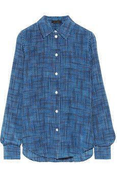 Marc Jacobs Checked silk shirt | NET-A-PORTER