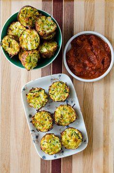 Baked Zucchini Bites (Gluten Free Option) | cooking ala mel