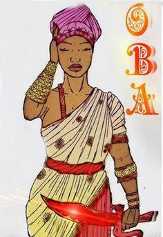 Mais tarde, Obá tornou-se a terceira mulher de Sangô, pois ela era forte e corajosa. A primeira mulher de Sangô foi Oiá-Iansã que era b...