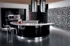 Rounded Kitchen Designs from Stemik