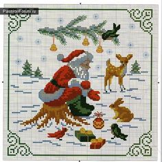 Cross Stitch Ideas point de croix Noël *m Cross stitch Mehr Santa Cross Stitch, Counted Cross Stitch Patterns, Cross Stitch Charts, Cross Stitch Designs, Cross Stitch Embroidery, Embroidery Patterns, Theme Noel, Crochet Cross, Christmas Embroidery