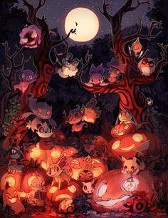 "the-halloween-hamster: "" Halloween by bluekomadori """