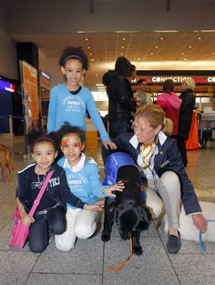 "Service Day: Airport ambassadors ""on four paws"" in the Terminal."