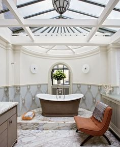 Contemporary Bathroom by Veronica Toub and Laurent Bourgois in Paris, France