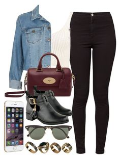 Style #9079 by vany-alvarado on Polyvore featuring polyvore, fashion, style, Boohoo, Topshop, American Apparel, Mulberry, ALDO, Ray-Ban and clothing