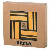 Kapla Green/Yellow Dual Color Wooden Building Set with Art Book Kids Blocks, Baby Blocks, Toddler Toys, Kids Toys, Illustrated Words, Stacking Blocks, Wooden Buildings, Basic Math, Math Concepts