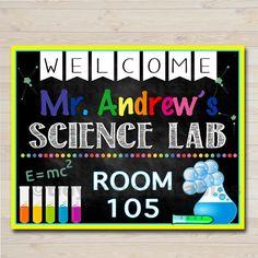 Science teacher door sign by fancydaydesigns on etsy 4900 science teacher classroom door sign science lab printable classroom sign custom teacher sign pronofoot35fo Gallery