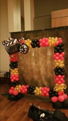 Hollywood Photo Booth #elegancemanifested #balloon decor #let us make your event elegant