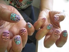 Ombre leopard and zebra
