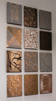 Art Diy, Diy Wall Art, Wall Art Decor, Mural Wall Art, Wall Art Sets, Cuadros Diy, Abstract Wall Art, Abstract Paintings, Diy Canvas Art