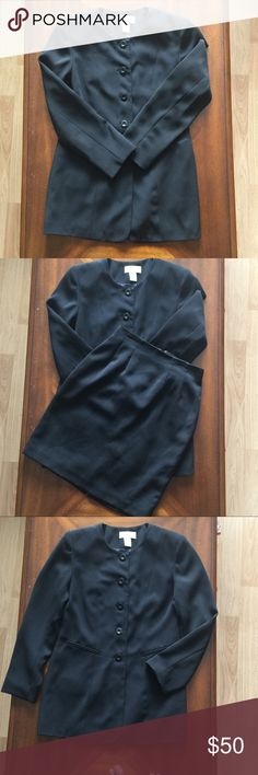 Casual Corner Blazer+Skirt Black Casual Corner Blazer and Skirt in good condition. Casual Corner Jackets & Coats Blazers