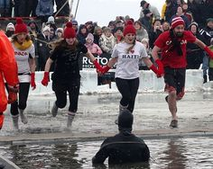 """Here's your polar plunge roundup of all those who are """"freezin' for a reason."""""""
