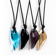 Cool Rock Men Women Crystal Wolf Tooth Adjustable Pendant Necklace Jewellery