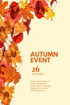fall flyer backgrounds