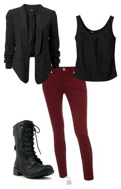 """Rocker Night Look"" by brainyblonde ❤ liked on Polyvore featuring Patagonia and rocker night look outfit punk edgey fall"