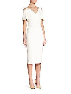 Roland Mouret Awalton Cold Shoulder Dress