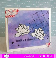 Card using stamp Lotus Delight