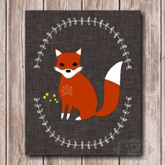 Woodland Fox Print by LittleLightPrints on Etsy, Animals Woodland Critters, Woodland Theme, Woodland Creatures, Fantastic Fox, Baby Wish List, Poster Prints, Art Prints, Posters, Fox Print