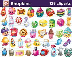 Instant Download 128 Shopkins Cliparts by MaryAnnColors on Etsy