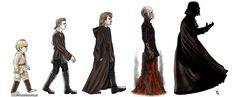 Funny pictures about Darth Vader Evolution. Oh, and cool pics about Darth Vader Evolution. Also, Darth Vader Evolution photos. Star Wars Love, Star War 3, Star Wars Art, Star Trek, Darth Vader, Anakin Vader, Anakin Skywalker, Star Wars Rebels, Cultura Pop