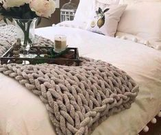 Make a Chunky Hand Knit Blanket in 1 Hour! Cable Knit Blankets, Hand Knit Blanket, Chunky Blanket, Weighted Blanket, Joining Yarn Knitting, Hand Knitting Yarn, Blanket With Arms, Yarn Shop, Thread Crochet