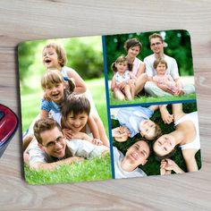 Napjaink nagy részét munkával töltjük külön a családtagjainktól. Legyen szó otthoni vagy munkahelyen végzett munkáról, szeretteinket oda varázsolhatjuk magunk mellé egy egyedi, 3db fényképpel ellátott egérpaddal. Így garantáltan jobban megy a munka! Az egérpad mérete 23x19cm, alja gumírozott, felülete textil, vastagsága 5mm. Polaroid Film, Frame, Picture Frame, Frames