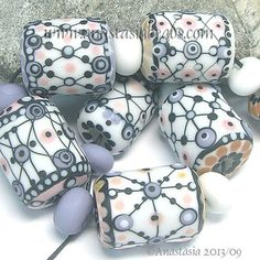 "Anastasia Lampwork Beads 7 ""Rose Garden"" SRA | eBay"