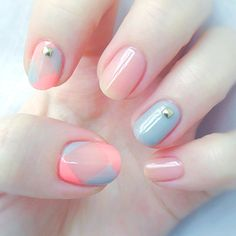 Lovely pastel nail art