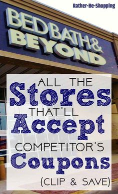 couponing I spent some time figuring out which popular stores will accept coupons from their competitors. Here is what I discovered. Use this info to always score a deal, even when you can; Extreme Couponing, Couponing 101, Start Couponing, Save Your Money, Ways To Save Money, Saving Ideas, Money Saving Tips, Money Tips, Managing Money