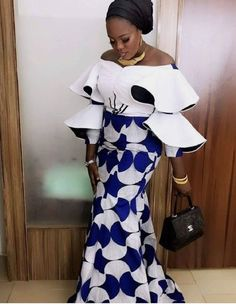 The ideal source for your afro chic life style and fashion site Latest African Fashion Dresses, African Dresses For Women, African Print Dresses, African Print Fashion, Africa Fashion, African Attire, African Prints, Lace Gown Styles, Ankara Gown Styles