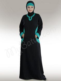 Daria  Abaya!   Style No: Ay-197   Shopping Link :  http://www.mybatua.com/daria-abaya  Available Sizes XS to 7XL (size chart: http://www.mybatua.com/size-chart/#ABAYA/JILBAB)
