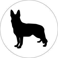 German Shepherd Retractable ID Badge Reel