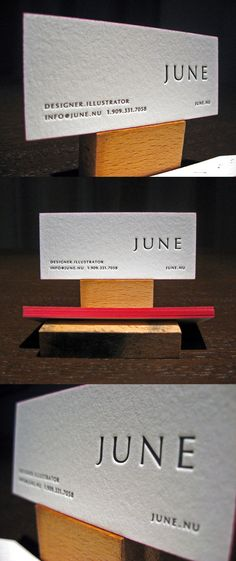 June's LetterPress Business Card