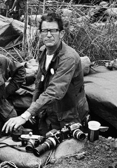 Vietnam era War Photographer, Larry Burrows shown with his 2 Nikon's and his Leica