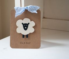 Lamb Sheep Invitations Boy Baby Shower Thank by CardinalBoutique